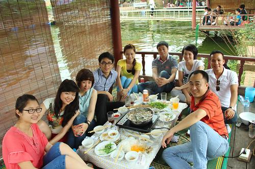 Ăn uống ở hồ câu Ngọc Thụy - Long Biên
