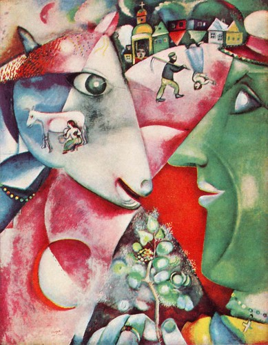 "I and the village"" by Marc Chagall"
