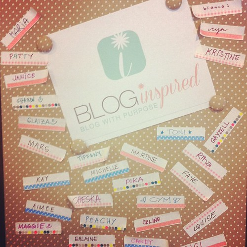 Spot your name! :) #bloginspired