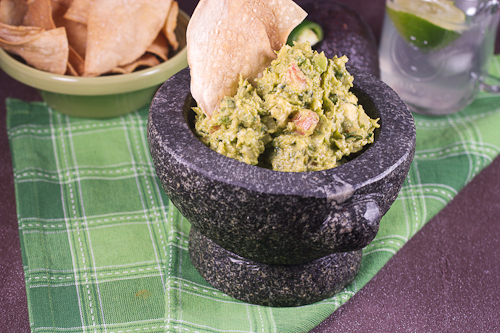 Baked Tortilla Chips and Guacamole