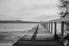 Monochrome Waterscape at Long Jetty by Merrillie