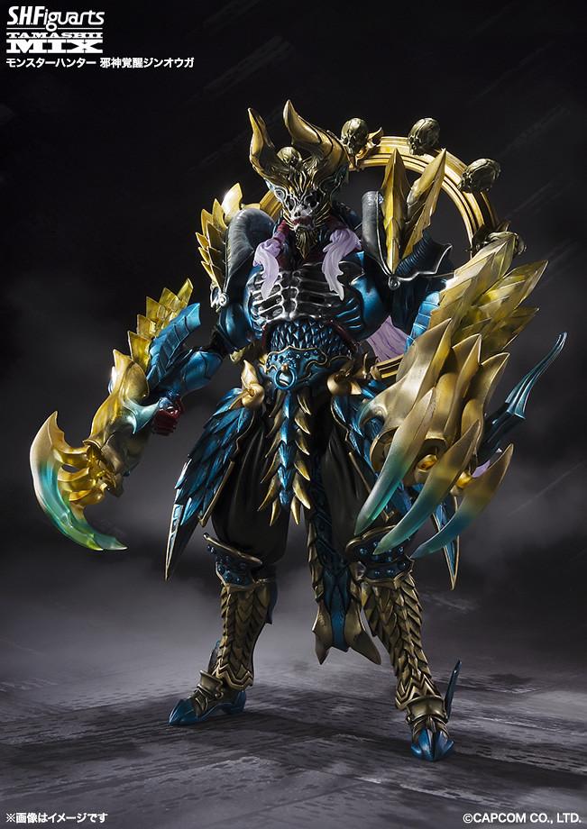 竹谷隆之x魔物獵人  濃濃神話風格的雷狼龍套裝! S.H.Figuarts 魂MIX 「邪神覺醒神王牙」