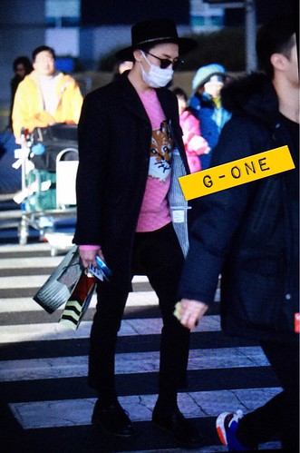 G-Dragon - Incheon Airport - 28jan2015 - G-One - 02