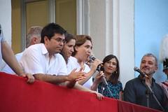 dg., 14/08/2016 - 19:30 - Ada Colau visita els carrers guarnits i assisteix al pregó de la Festa Major de Gràcia