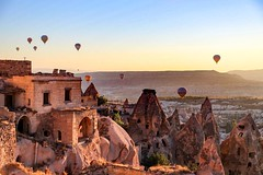 Watching the balloons at sunrise from from my hotel is worth the early hour. #travel #turkey #sunrise