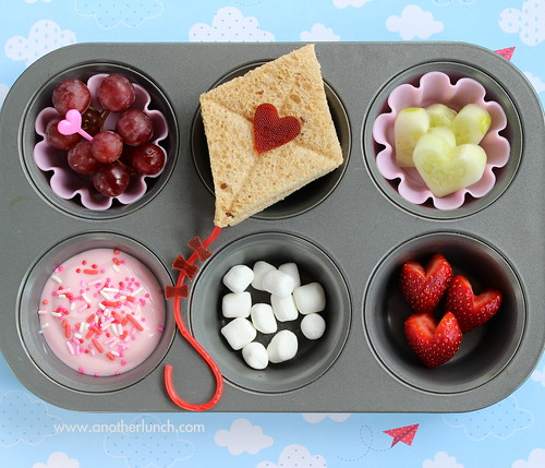 Love is in the Air Muffin Tin Meal with kite