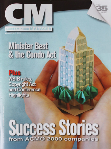 Origami Condo in My Hands - On Cover of CM Magazine!