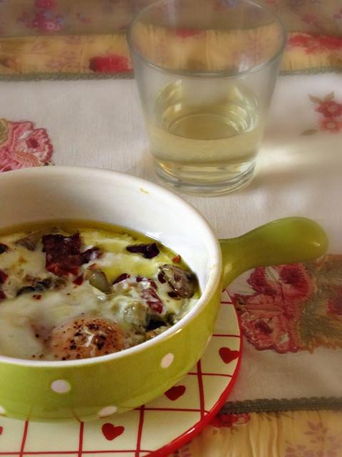 Oeuf Cocotte con e Pomodorini