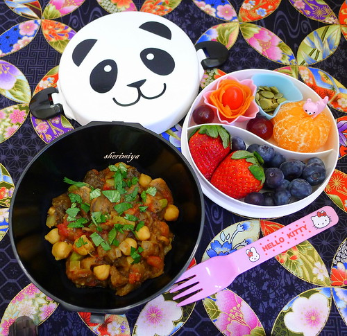 Eggplant Curry Panda Bento by sherimiya ♥