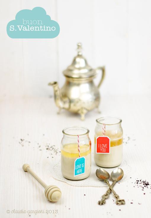 panna cotta al té nero e miele