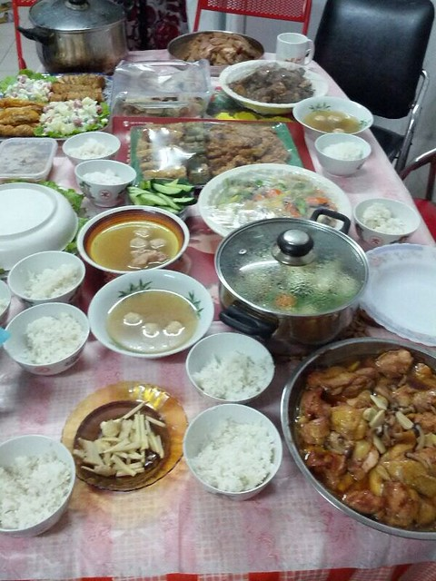 Chinese New Year eve reunion dinner