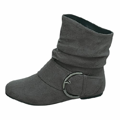 top moda buckle flat ankle high bootie flickr photo