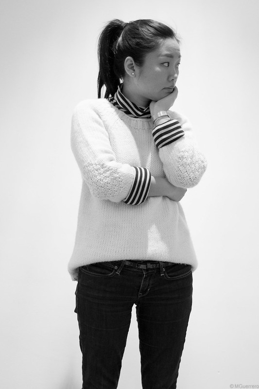 knit sweater stripes