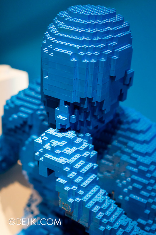 Art of The Brick - Blue Guy Sitting 2