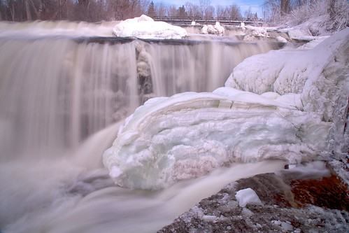 winter cold ice river mississippi freezing waterfalls lowerfalls day52 almonte millfalls day52365 3652013 365the2013edition 21feb13