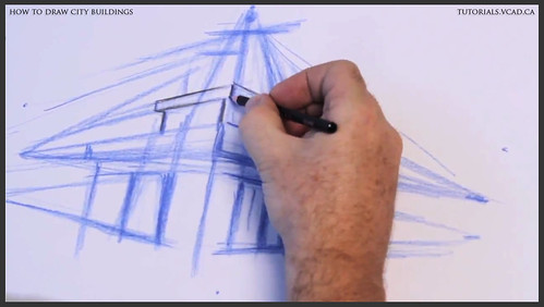 learn how to draw city buildings 010