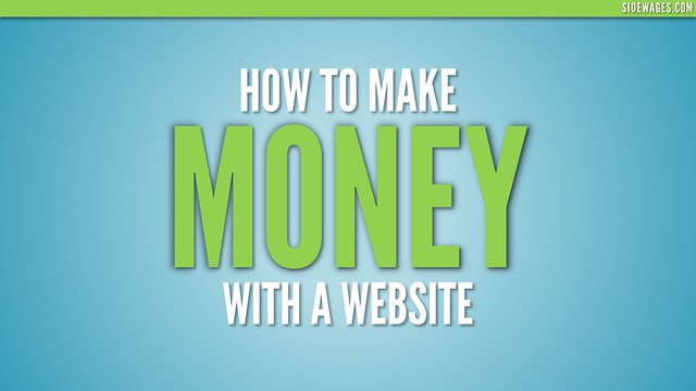 How to Make Money With a Website - PowerPoint Slide #01