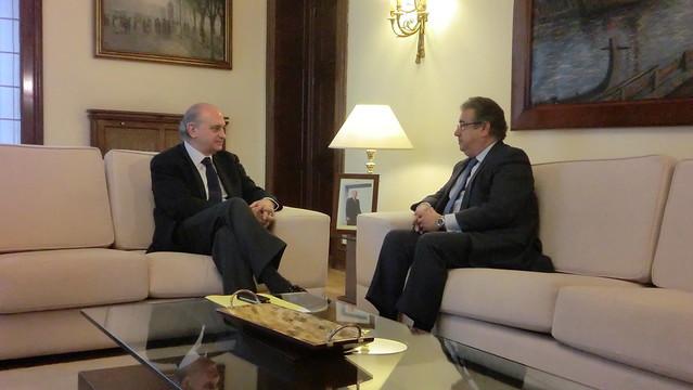 El ministro del interior jorge fern ndez d az se re ne for Foto del ministro del interior