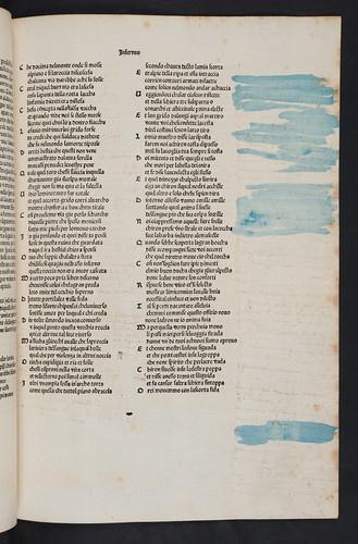 Obscured marginal annotations in Dante Alighieri: La Commedia