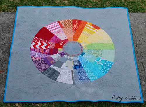 color wheel quilted above