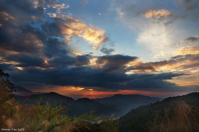 sunset near Cameron Highlands
