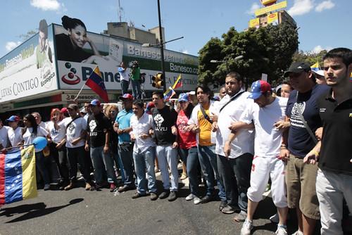 Marcha de la oposición en Chacao.