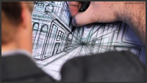 learn how to draw city buildings in perspective 026