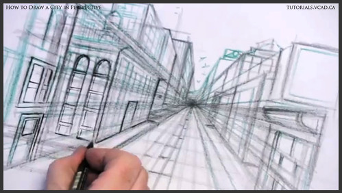 learn how to draw city buildings in perspective 022