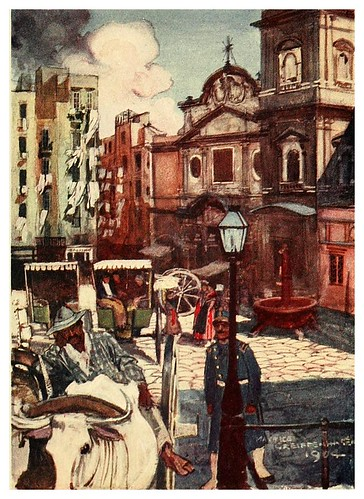 015-Iglesia de Carmine en Napoles-Naples  past and present-1905-Maurice Grieffenhagen
