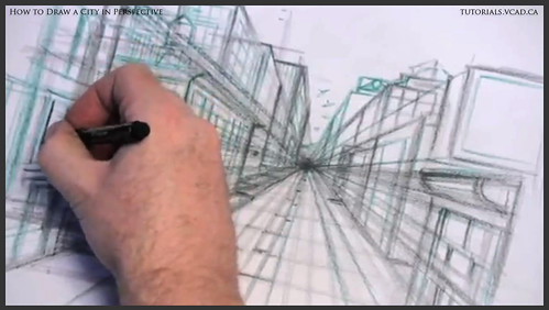 learn how to draw city buildings in perspective 019