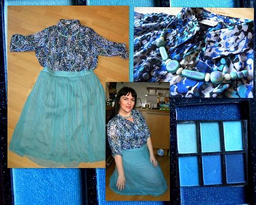 юбка из шифона,колье пластика,ручная работа by Elena Bezyaeva