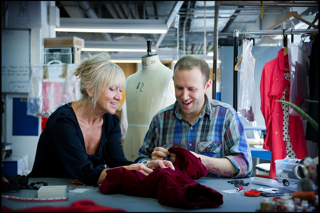 Apprentice Robin McGrorty and Mal Barton of the Royal Opera House Costume department © ROH/Sim Canetty-Clarke 011