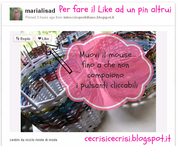 guida a pinterest su cecrisicecrisi.blogspot.it come fare il like