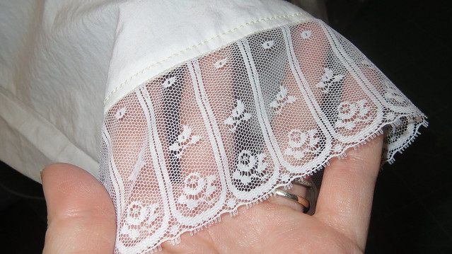 lace on hem of pantalets