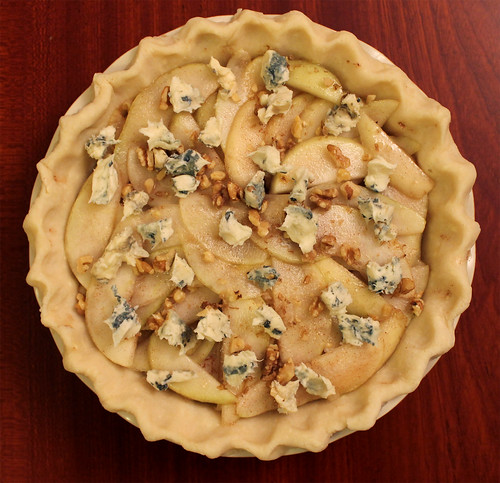 Spiced Pear, Dolcelatte & Toasted Walnut Pie