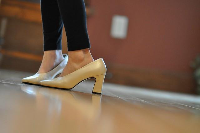 little girl in heels