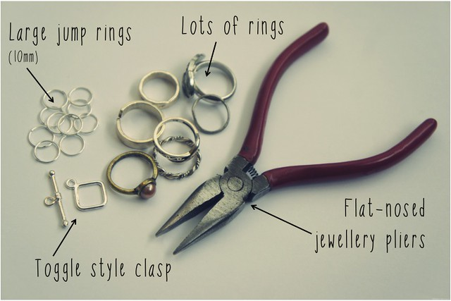 diy bracelet of rings 2
