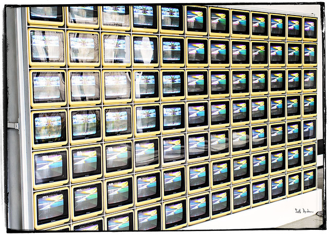 Video Flag Z by Nam June Paik