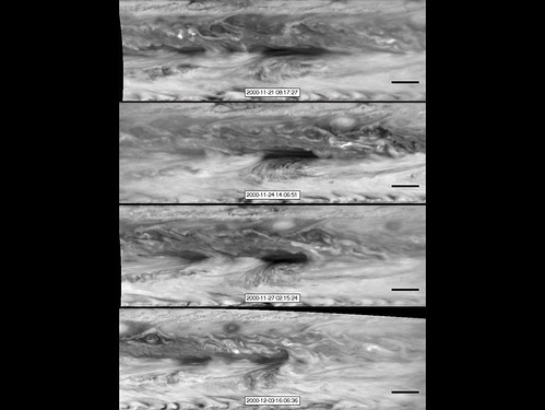 Vortices Bump into a Hot Spot in Jupiter's Atmosphere.