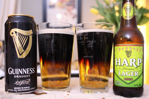 Half and Half with Guinness and Harp