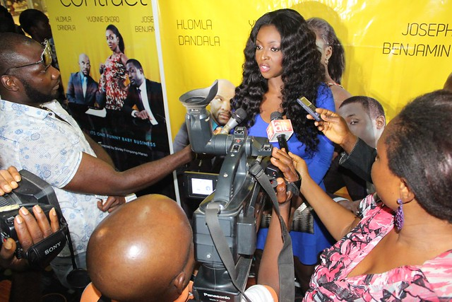 Yvonne Okoro encounters media