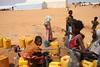 The Mali crisis has forced tens of thousands of people into refugee camps in neighbouring countries. Climatic conditions in Mauritania's Mbera camp are particularly harsh. People depend entirely on humanitarian organizations funded by ECHO to provide them with  the minimum of 15 liters of water per person per day.   ‾‾‾‾‾‾‾‾‾‾‾‾‾‾‾‾‾‾‾‾‾‾‾‾‾‾ La crise au Mali a contraint des dizaines de milliers de personnes à s'entasser dans des camps de réfugiés dans les pays voisins. Dans le camp de Mbéra, en Mauritanie, les conditions météorologiques sont extrêmement difficiles. Les réfugiés y dépendent entièrement des organisations humanitaires financées par ECHO pour leur procurer les 15 litres d'eau minimum par personne et par jour.   Photo credit: Cyprien Fabre.