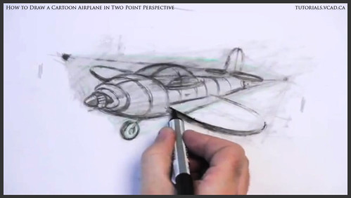 learn how to draw a cartoon airplane in two point perspective 036