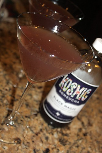 Black Magic Kombucha Cocktail
