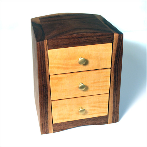 3-Drawer Walnut Box