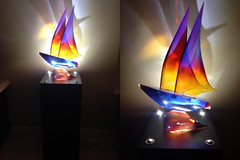 Black-Spot-Lighted-art-pedestal-sculpture