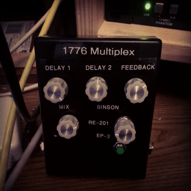 Photo:Finished building this delay pedal today. By glacial23