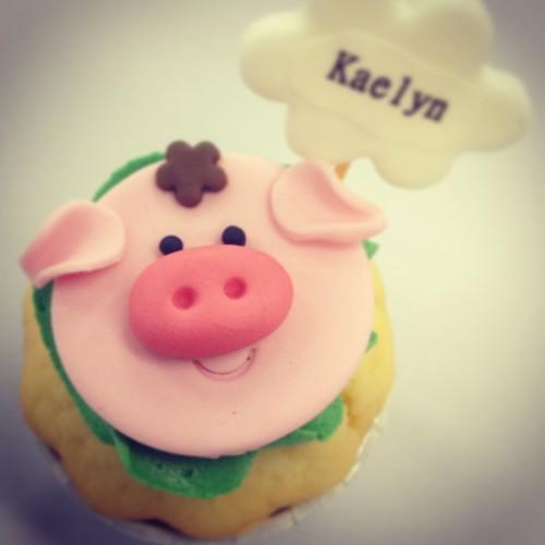 piggie cupcake