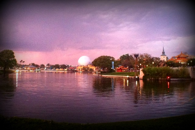 Epcot sunset