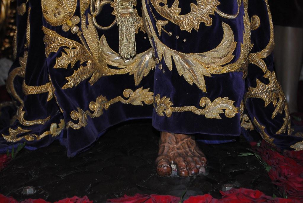 Detalle del pie de Padre Jesús Nazareno. FOTO: ÁNGEL MEDINA LAÍN